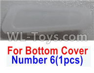 Wltoys Q616 Parts-08 Number 6 Rear Right lamp cover for the Bottom shell cover,Wltoys Q616 RC Quadcopter Drone Spare Parts Accessories,Wltoys Model Q616 Replacement Accessories