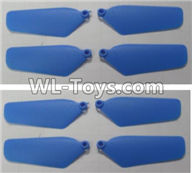 Wltoys Q626 Q626-B Parts-09-01 Main rotor blades,Propellers(8pcs)-Blue,Wltoys Q626 Q626-B RC Quadcopter Drone Spare Parts Accessories,Wltoys Model Q626 Replacement Accessories