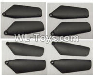 Wltoys Q626 Q626-B Parts-21-01 Main rotor blades,Propellers(8pcs)-Black,Wltoys Q626 Q626-B RC Quadcopter Drone Spare Parts Accessories,Wltoys Model Q626 Replacement Accessories