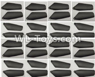 Wltoys Q626 Q626-B Parts-21-02 Main rotor blades,Propellers(32pcs)-Black,Wltoys Q626 Q626-B RC Quadcopter Drone Spare Parts Accessories,Wltoys Model Q626 Replacement Accessories
