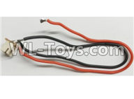 Wltoys Q696 Parts-14-02 Q393-12 Rear motor cable with socket assembly,Wltoys Q696 RC Quadcopter Drone Spare Parts Accessories,Wltoys Model Q696 Replacement Accessories