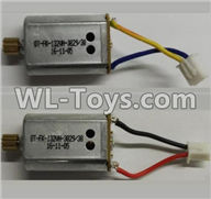 Wltoys Q696 Parts-22-02 Reversing-rotating Motor with Black and Yellow wire(1pcs) & rotating Motor with red and Black wire(1pcs),Wltoys Q696 RC Quadcopter Drone Spare Parts Accessories,Wltoys Model Q696 Replacement Accessories