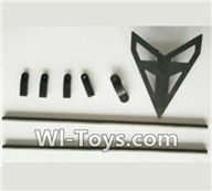 Wltoys V950 Spare-Parts-25 Support pipe(2pcs) & Fixture for the Support pipe(4pcs) & Horizontal wing with fixtures,Wltoys V950 RC Helicopter Spare Parts Brushless Wltoys V950 Parts Replacement Accessories