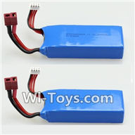 Wltoys V950 Spare-Parts-34-02 11.1V 1500MAH Battery(2PCS),Wltoys V950 RC Helicopter Spare Parts Brushless Wltoys V950 Parts Replacement Accessories