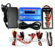 Wltoys V950 Spare-Parts-36-02 Upgrade Charger unit,Can charger 6x battery at the same time(Power & B6 Charger & 1-To-6 Parallel charging Board),Wltoys V950 RC Helicopter Spare Parts Brushless Wltoys V950 Parts Replacement Accessories