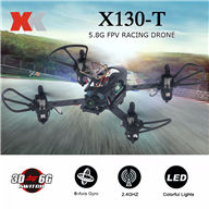 XK X130-T 5.8G FPV 3D  6G Mode Mini Racing Drone with HD Camera 2.4G 4CH Carbon Fiber Frame RTF Micro RC Quadcopter