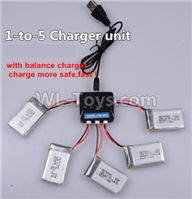 XK X130-T.0021-02 Spare Parts Upgrade 1-to-5 charger and balance charger(Not include the 5 battery),Wltoys XK X130-T RC Racing Drone Parts,X130-T RC Quadcopter Spare parts,X130T RC Drone parts