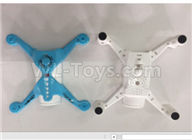 XK X150 Spare Parts-X150.0001.001 Blue fuselage group,Upper and Bottom bottom shell cover-Blue,Wltoys XK X150 RC Racing Drone Parts,X150 RC Quadcopter Spare parts,X150 RC Drone parts