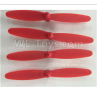 XK X150 Spare Parts-X150.0002.002 Main rotor blades,Propellers(4pcs)-Red,Wltoys XK X150 RC Racing Drone Parts,X150 RC Quadcopter Spare parts,X150 RC Drone parts