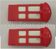 XK X150 Spare Parts-X150.0012.004 Official battery,3.7V 800MAH Battery-Red(2pcs),Wltoys XK X150 RC Racing Drone Parts,X150 RC Quadcopter Spare parts,X150 RC Drone parts