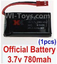 XK X250 Parts-16 Official 3.7v 780mah 20c Battery(1pcs) For Wltoys XK X250 Quadcopter Spare parts,X250 RC Drone parts