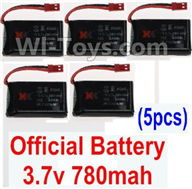 XK X250 Parts-18 Official 3.7v 780mah 20c Battery(5pcs) For Wltoys XK X250 Quadcopter Spare parts,X250 RC Drone parts