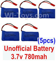XK X250 Parts-19 Unofficial 3.7v 780mah 20c Battery(5pcs) For Wltoys XK X250 Quadcopter Spare parts,X250 RC Drone parts
