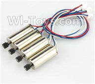 XK X250 Parts-36 Rotating Motor with red and Blue wire,CW Motor(2pcs) & Reversing-rotating Motor with White and Blue wire,CCW Motor(2pcs) For Wltoys XK X250 Quadcopter Spare parts,X250 RC Drone parts