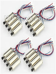 XK X250 Parts-37 Rotating Motor with red and Blue wire,CW Motor(8pcs) & Reversing-rotating Motor with White and Blue wire,CCW Motor(8pcs) For Wltoys XK X250 Quadcopter Spare parts,X250 RC Drone parts