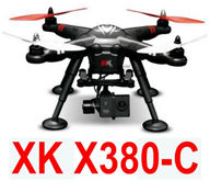 XK X380-C Quadcopter(include the Two-axis brushless cradle head group And Duplicate Gopro 12,000,000 Pixels 1080P HD Camera) Spare Parts Accessories for Wltoys XK X380-A X380-B X380-C RC Drone,5.8G image transmission RC Quadcopter Aircraft