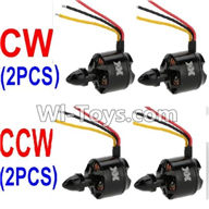 XK X500 Spare Parts-017-02 clockwise Rotating Brushless Motor(CW)-2pcs & counterclockwise Reversing-rotating Brushless Motor(CCW)-2pcs,XK X500 RC Quadcopter Drone Spare Parts,XK X500-A Replacement Accessories Parts