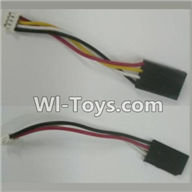 XK X500 Spare Parts-035 adapter cable(2pcs),XK X500 RC Quadcopter Drone Spare Parts,XK X500-A Replacement Accessories Parts