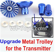 XK X500 Spare Parts-041-04 Upgrade Metal Trolley for the Transmitter-Blue(Can be used for XK X251 K100 K110 K120 K123 K124 X350 X380 X500),XK X500 RC Quadcopter Drone Spare Parts,XK X500-A Replacement Accessories Parts
