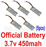 XK K110 Parts-29 Official 3.7v 450mah Battery(5pcs) For Wltoys XK X110 Helicopter parts,6ch Brushless Helicopter spare parts