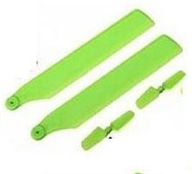 XK K110 Parts-62 Upgrade propellers(2pcs) & Tail blade(2pcs)-Green For Wltoys XK X110 Helicopter parts,6ch Brushless Helicopter spare parts