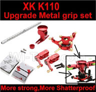 XK K110 Parts-65 Upgrade Metal main grip set For Wltoys XK X110 Helicopter parts,6ch Brushless Helicopter spare parts