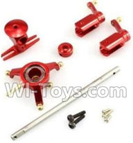 XK K120 Parts-32 Metal parts unit(Swashplate & Head & Main grip set & Main shaft)-Red For Wltoys XK X120 Helicopter parts,6ch Brushless Helicopter spare parts