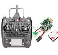 XK K120 Parts-48 Transmitter & Circuit board For Wltoys XK X120 Helicopter parts,6ch Brushless Helicopter spare parts