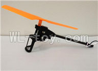 XinXun X39 RC Quadcopter UFO XinXun X39 X39V parts-19 Reversing-Rotating Motor Assembly-Orange rotor & the motor wire is White and Black