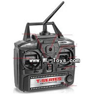 MJX T55/T655-parts-28 Transmitter 2.4GHZ,MJX T655 RC Helicopter Parts