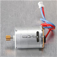 MJX T55/T655-parts-29 main motor with short shaft and gear,MJX T655 RC Helicopter Parts MJX T55 toys model helikopter Accessories