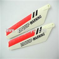 LS-222-LS222 Helicopter parts-04 Upper main blades(2pcs)-Red