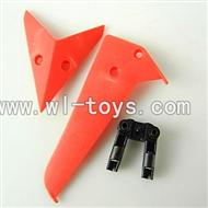 LS-222 LS222 helicopter parts-14 Horizontal wing & Vertical wing & Horizontal fixture-(Red)