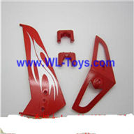 LianSheng LS-208 LS208 RC Helicopter parts, Vertical and Horizontal Tail 2pcs/lot