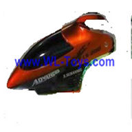 LianSheng LS-208 LS208 RC Helicopter parts, Head Cover, nose, canopy,Red-07