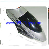 LianSheng LS-208 LS208 RC Helicopter parts, Head Cover, nose, Canopy,Gray-08