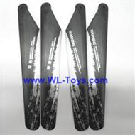LianSheng LS-208 LS208 RC Helicopter parts, Main Blades, 4PCS/LOT,-18