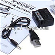 WLtoys V966 Power Star 1 6CH Flybarless RC Helicopter parts, USB Charger-12