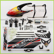 WLtoys V912 2.4G RC single Helicopter Parts,Head Cover +blades+motor set-12