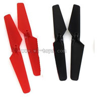 WL-V222-11 Main rotor blades(4pcs-2x red + 2x Black) Wltoys V222 Quadcopter parts wl toys 222 parts
