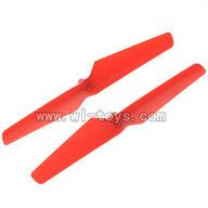 WL-V222-13 Main rotor blades(2x-Red) Wltoys V222 Quadcopter parts wl toys 222 parts