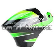 V955-parts-01 Head cover wholesale Wltoys V955 model WL toys 955 rc helicopter parts