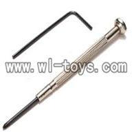 V955-parts-25 Cross screwdriver-internal hexagonal wrebch wholesale Wltoys V955 model WL toys 955 rc helicopter parts