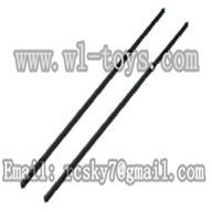 WL V944-parts-22 Long Carbon fiber tail connect pipe(2pcs) wholesale Wltoys V944 model WL toys 944 rc helicopter parts V944 parts list