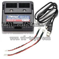 WL V944-parts-26 Charger & USB & Wire with plug wholesale Wltoys V944 model WL toys 944 rc helicopter parts V944 parts list