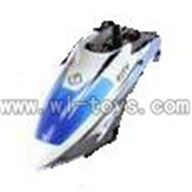 WL V319 helicopter parts-02-Head Cover-blue&white Wltoys WL V319 model WL toys V319 rc helicopter V319 parts list