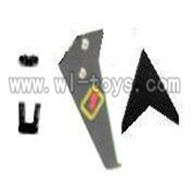 WL V388 helicopter parts-03-Tail decoration Wltoys WL V388 model WL toys V388 rc helicopter 388 parts list