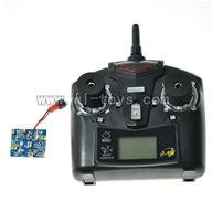 WLtoys-v959-19 Circuit board & 2.4GHZ Remote control Wltoys WL V959 model wl toys V959 rc Quadcopter and V959 parts list