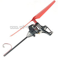 WLtoys-v989-09 Legs-Red(Carbon rod & Stand frame for motor & Motor & Main blade) WL V989 model wl toys V989 rc helicopter and V989 parts list Quadcopter