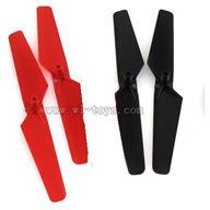 WLtoys-v999-11 Main rotor blades(4pcs-2x red + 2x Black) WL V999 model wl toys V999 rc helicopter and V999 parts list Quadcopter